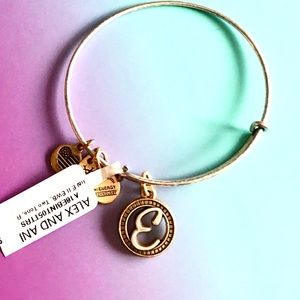 ALEX AND ANI Initial E Bangle Charm Bracelet